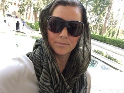 Sara in Fin Garden, Kashan in Iran.