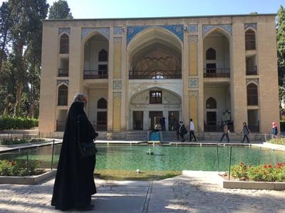 Fin Garden, a beautiful garden in Kashan, Iran.